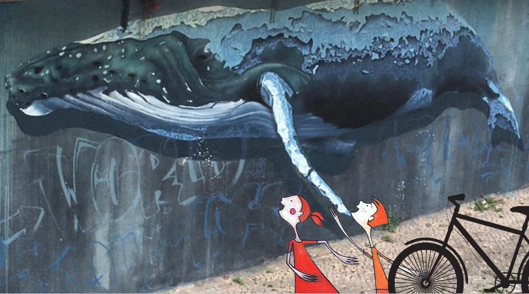 Passeio de bicicleta Arte urbana
